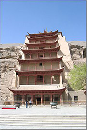 mogao caves in dunhuang, gansu