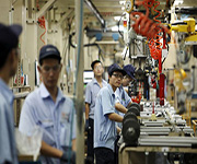 industrial workers in china